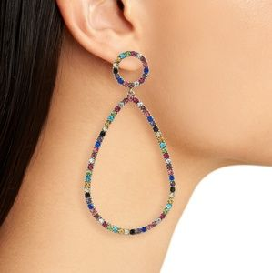 NEW BaubleBar Genevieve Multicolor Hoop Earrings.